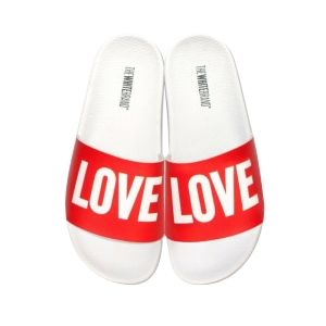 TheWhitebrand KINDERTEENSLIPPERS GIRLS TheWhitebrand  Love rood