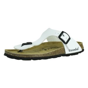 Warmbat Meisjes slipper Warmbat  101503-701 Schlossberg Bio Champ wit