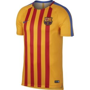 Nike Voetbalshirts Nike  854249 Dry FCB squad Top SS geel